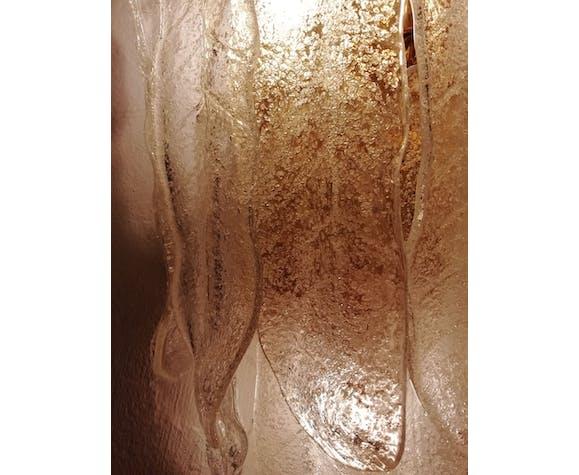 Applique murale en verre de Murano Mazzega