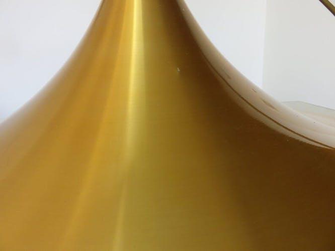 Suspension scandinave XXL en aluminium doré années 60 70