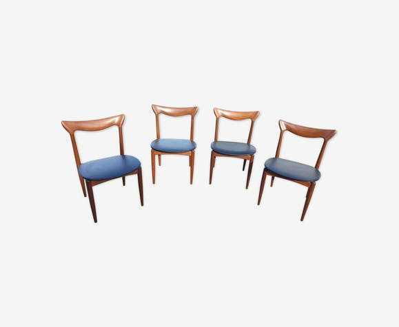 Set de 4 chaises scandinaves Henry Walter Klein