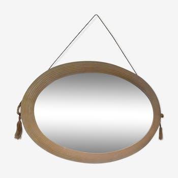 Miroir ovale art déco années 30 40x61cm