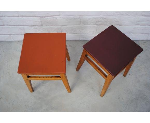 Pair of vintage stools 1950