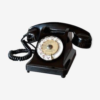 Téléphone PTT en bakélite vintage 60s