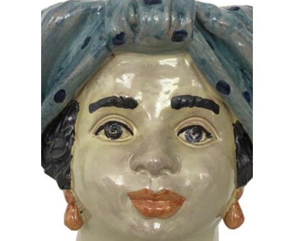 Vase tête moyenne pois femme
