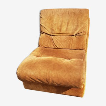 Armchair Jacques Charpentier chocolate skin