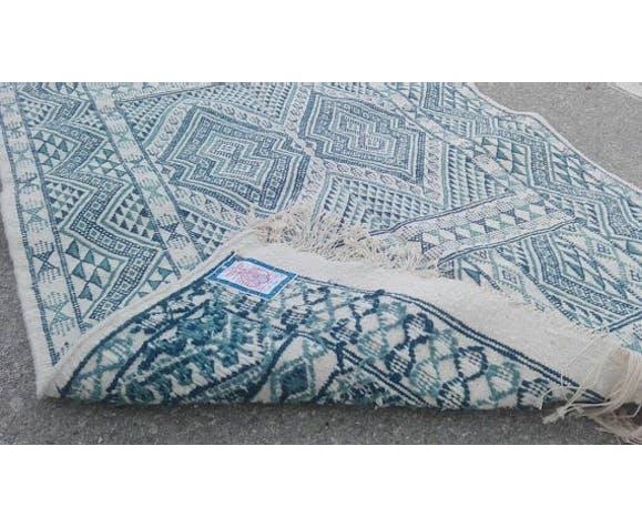 Tapis Bleu Et Blanc Tunisien 120x180cm Selency