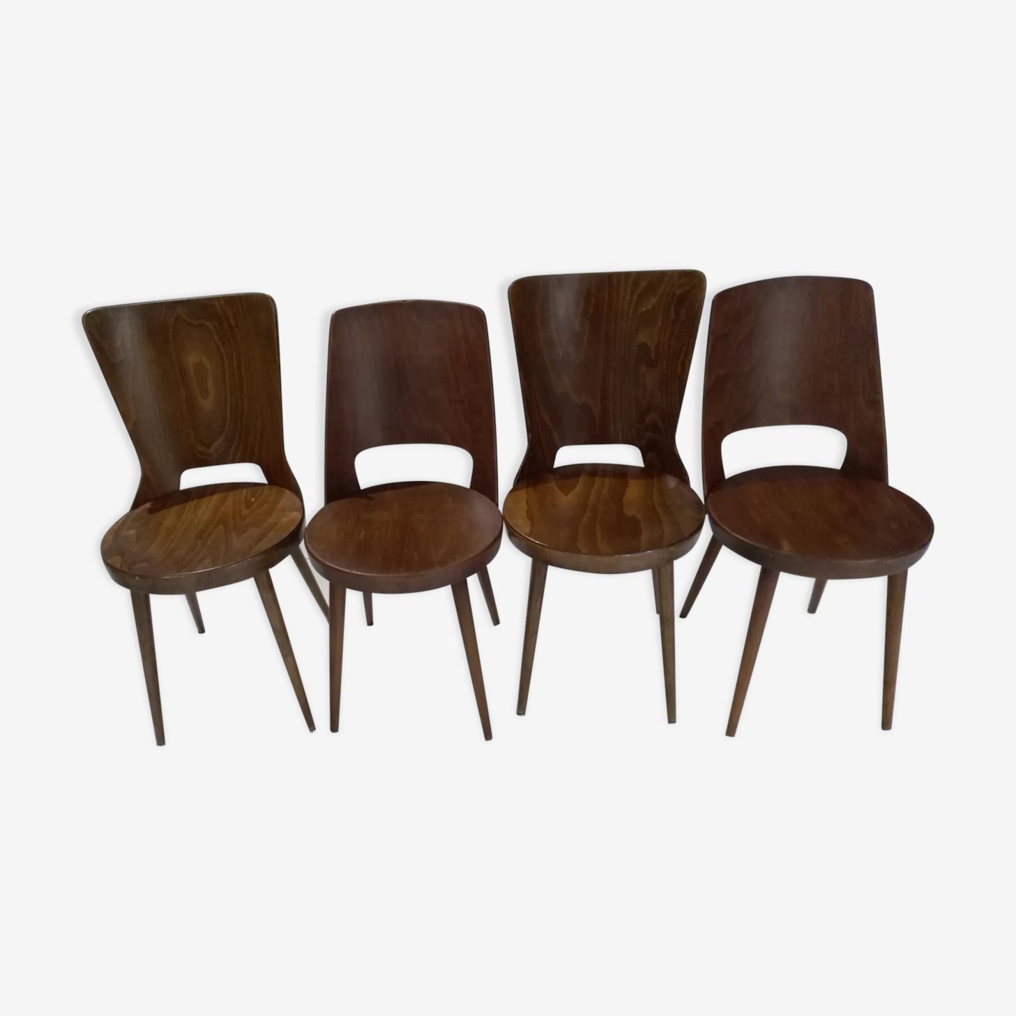 Suite 4 chairs bistro baumann mondor dove
