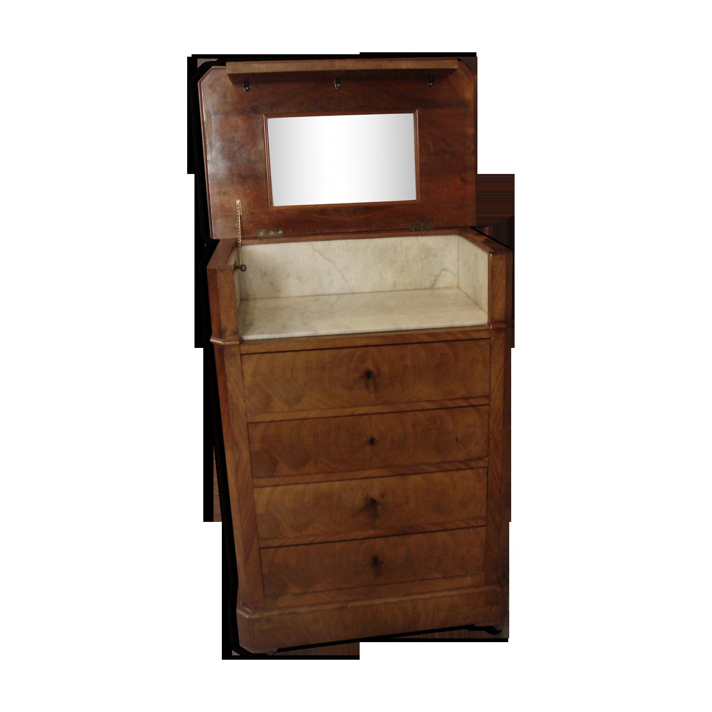 Art deco toilet chest on wheels wood wooden art deco