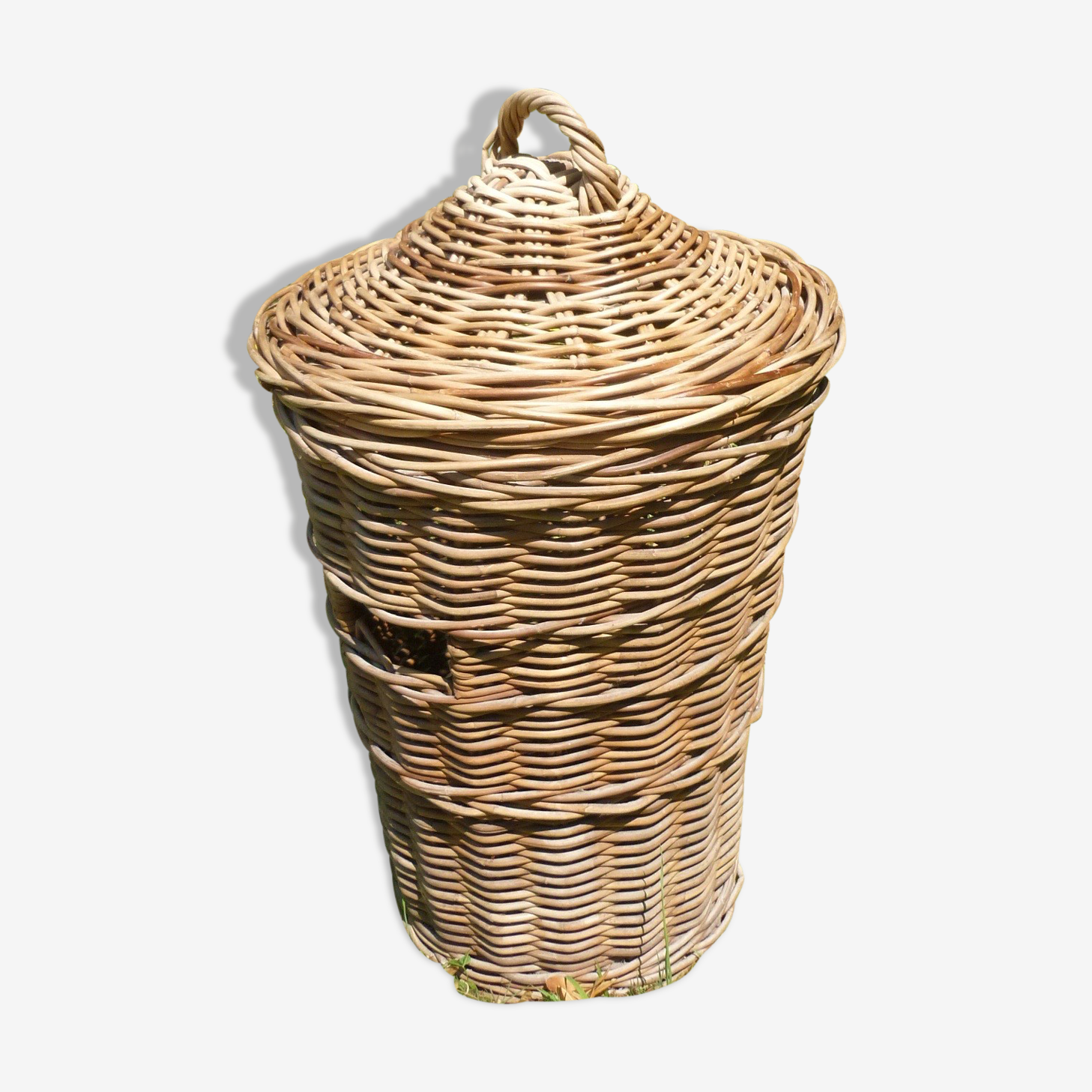 Basket with lid rattan