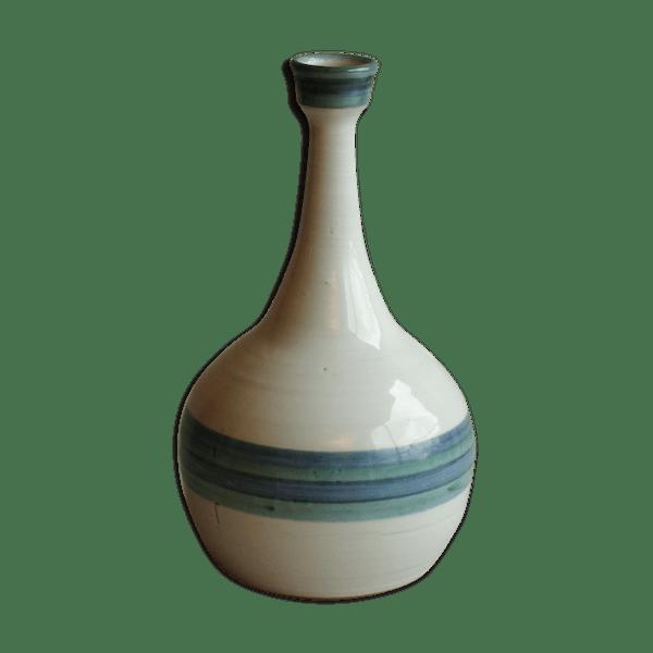 Vase en céramique, signé Alain bresson à Breil Roya, années 70 80   Selency