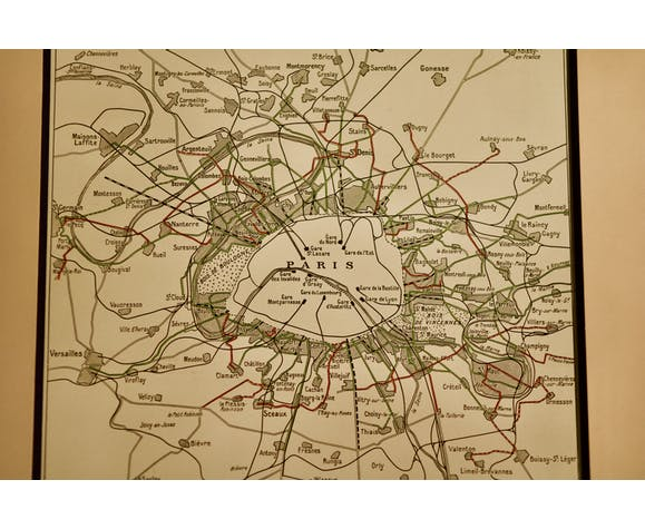 The development of transport in the Paris region 1928