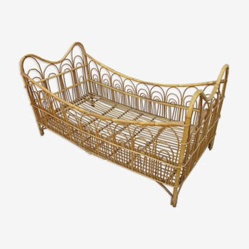 Rattan bed child of the 60s