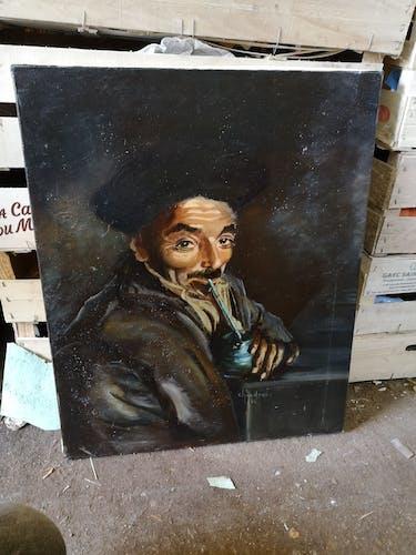 Portrait l'homme à la pipe