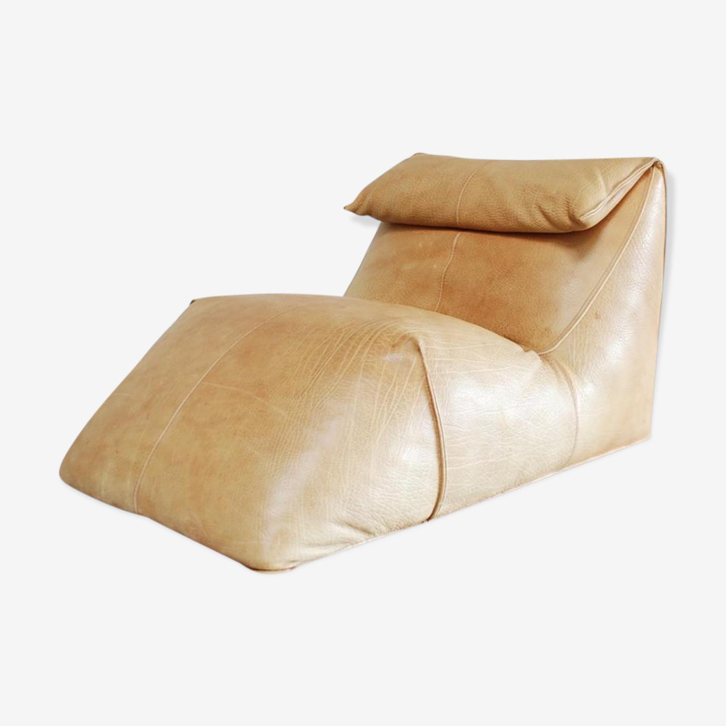 Chaise longue Le Bambole  en cuir par Mario Bellini pour B&B Italia