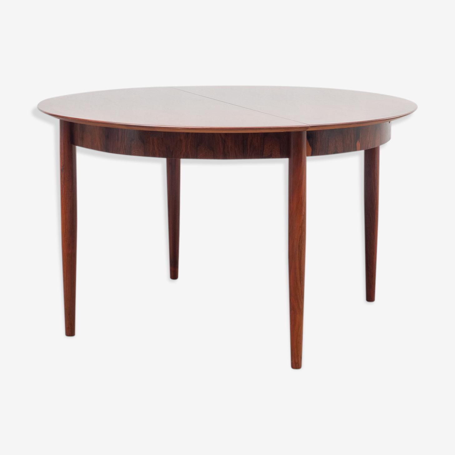 Table ronde pour salle à manger années 60, palissandre