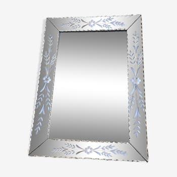 Miroir vénitien ancien 73 x 53 cm