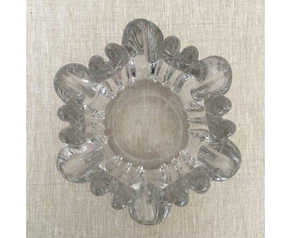 Vintage cast glass ashtray
