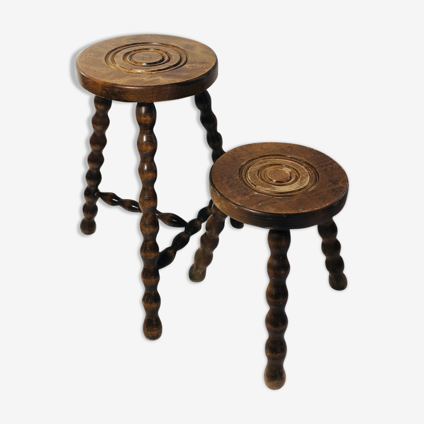 Tripods stools wooden