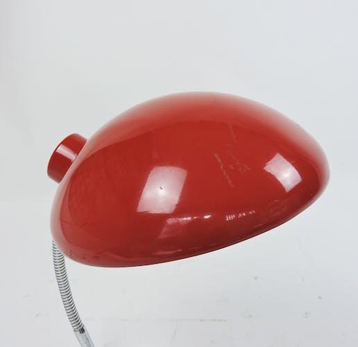 Vintage bauhaus adjustable red lamp, 1950