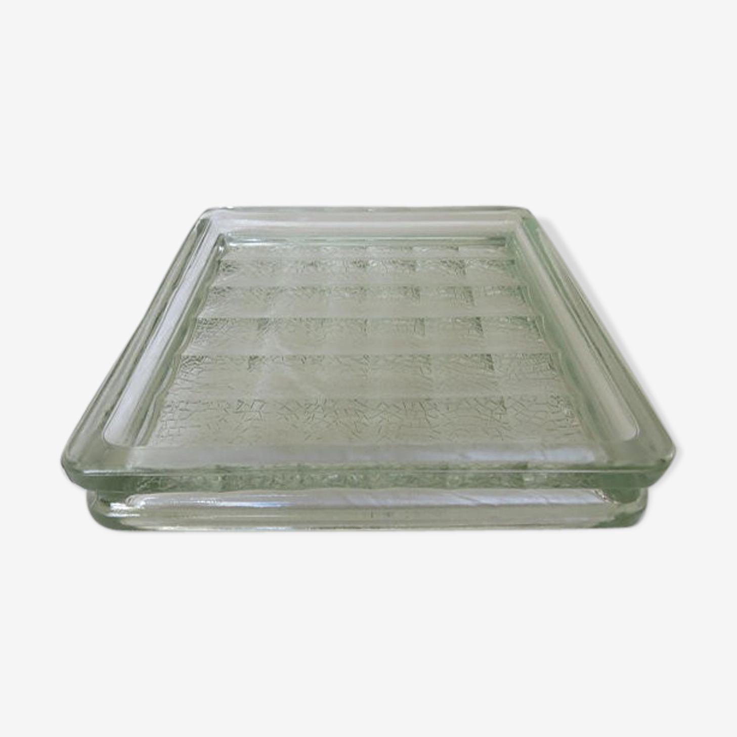 Paved  glass ashtray 50s 60s