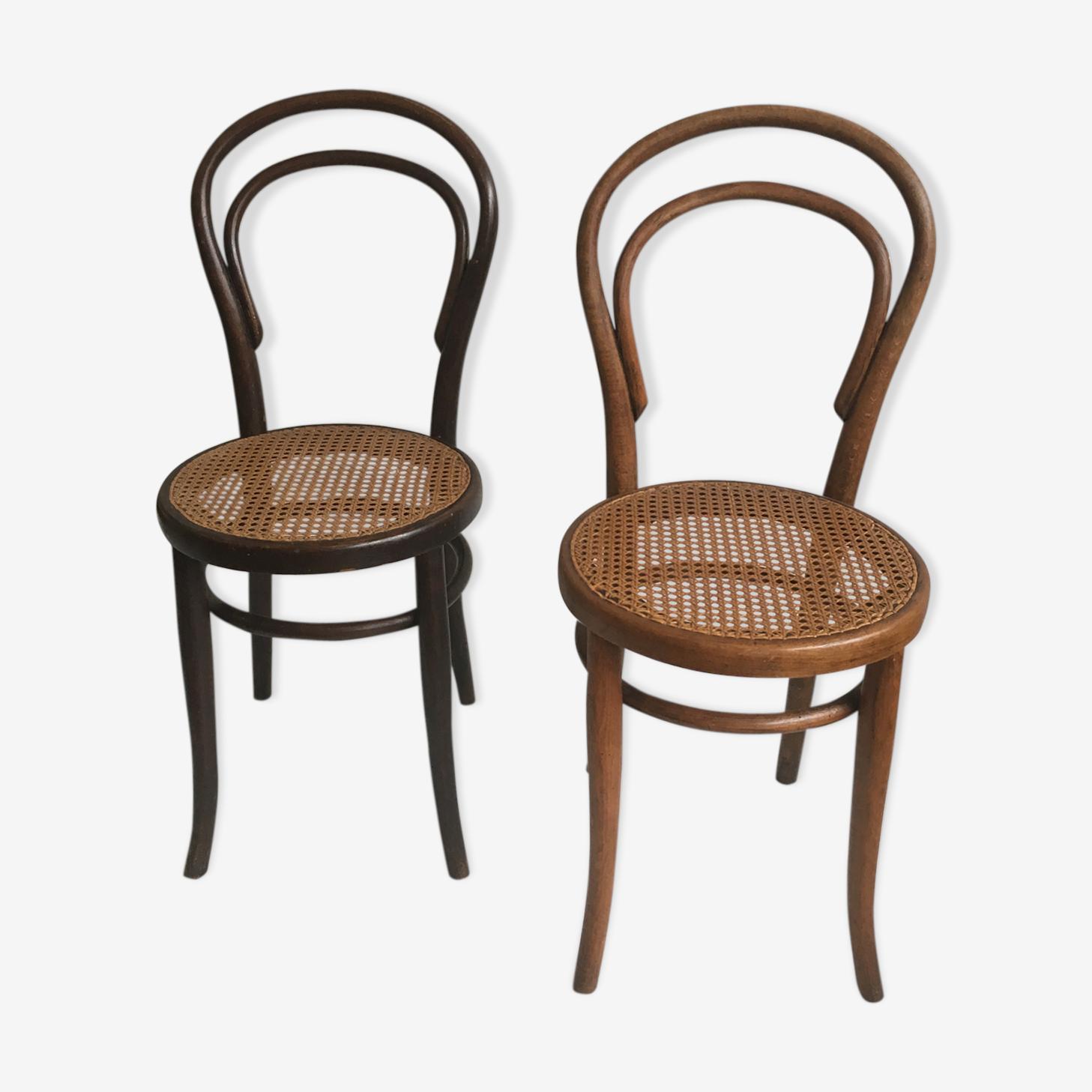 Paire de chaises bistrot Jacob & Josef Kohn