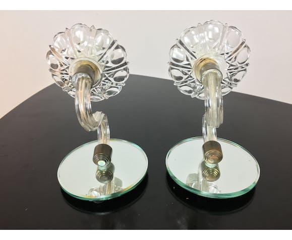 Appliques verre de Murano et miroir, années 50