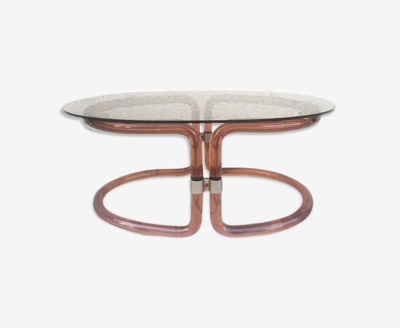 Table basse roche bobois plexiglas et verre 1970 plexiglas rose vintage vwt5gtc - Roche bobois tables basses ...