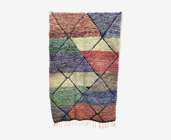 Moroccan Berber carpet Beni Ouarain colorful speckled 2,46x1.6m
