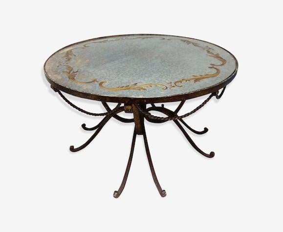 19d2589cf7f Table basse en fer forgé - fer - noir - art déco - cTFfwjh