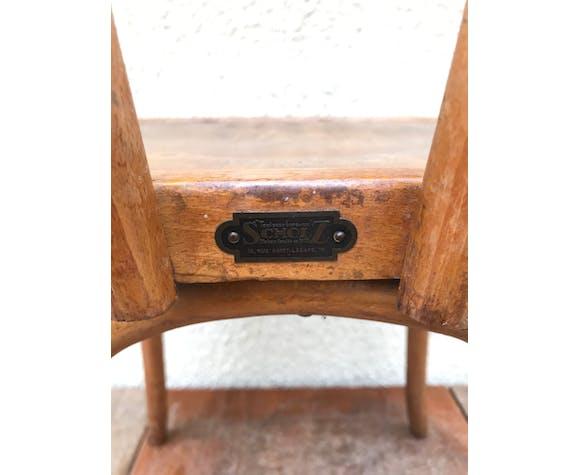 Ancienne chaise bistrot Scholz bois courbé années 50