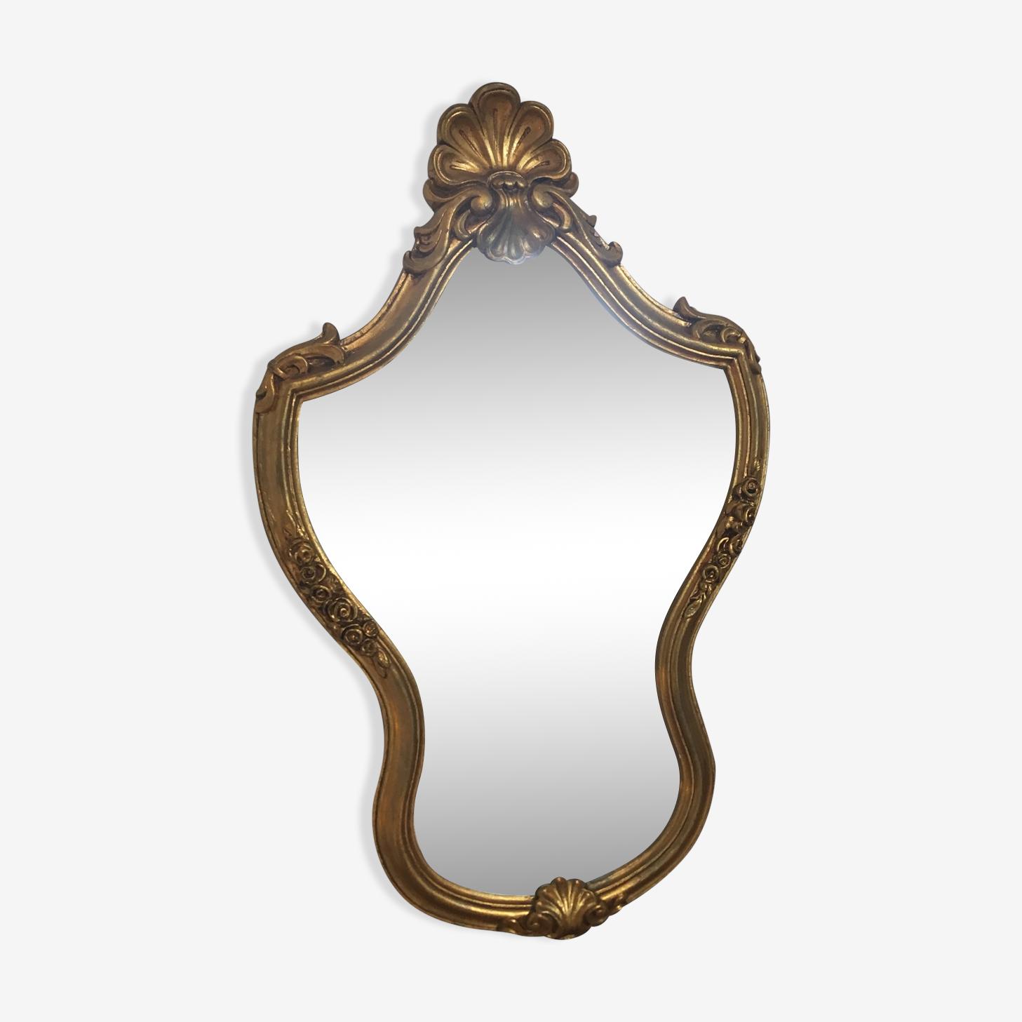 Miroir doré style Louis XV 46x72cm