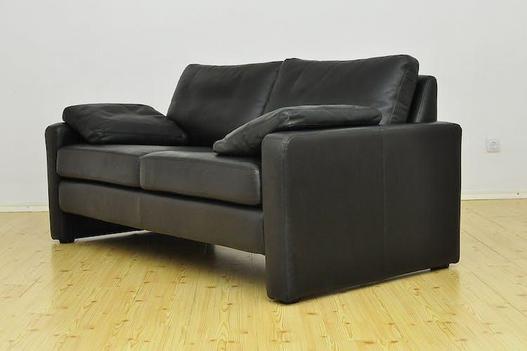 Canapé en cuir par Friedrich Wilhelm Möller pour COR, 1964