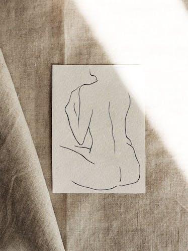 Illustration Talking with myself - 30x42cm