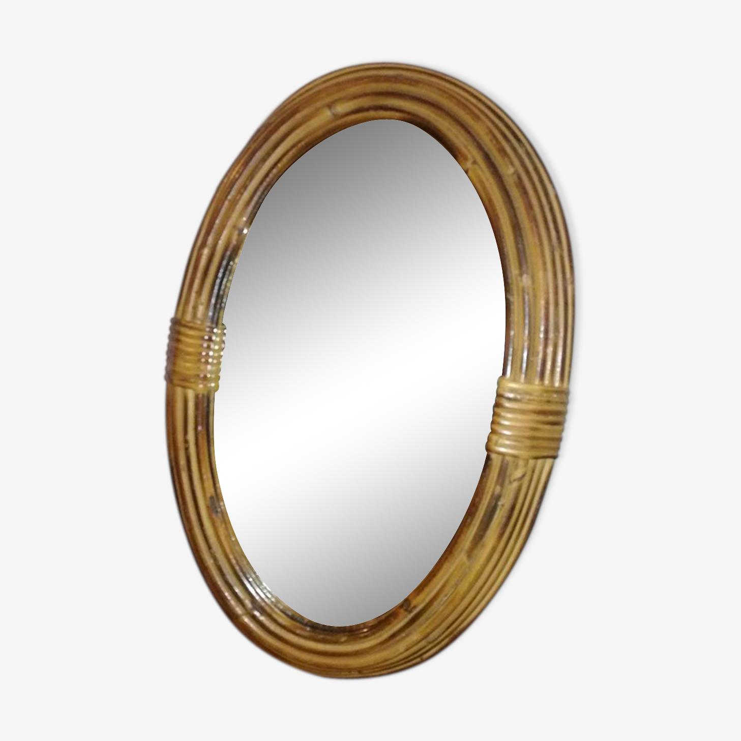 Miroir bambou 30x43cm