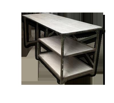 Ancien bureau avec étagère bois matériau industriel