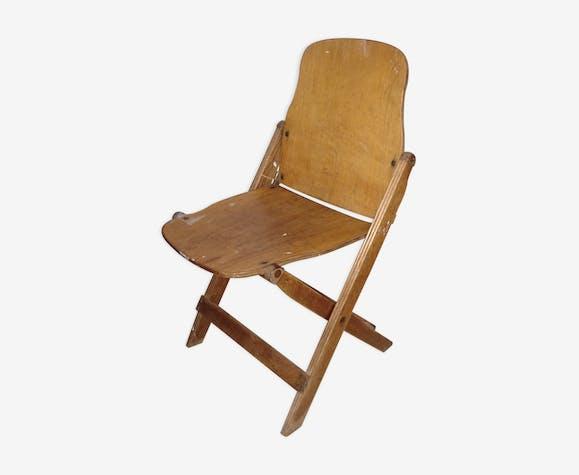 Chaise En Bois Pliable Amricaine De La Seconde Guerre Mondiale 39 45