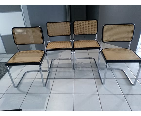 Suite of 4 Cesca B32 chairs by Marcel Breuer 1988
