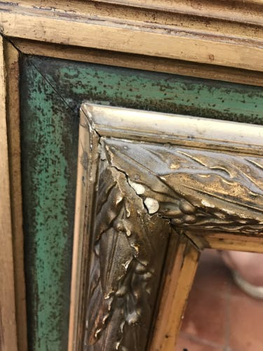 Miroir en bois 1940 - 59x67cm