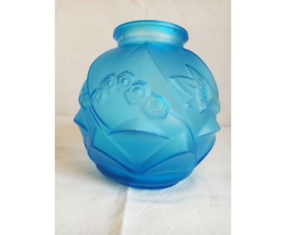 Vase bleu années 30
