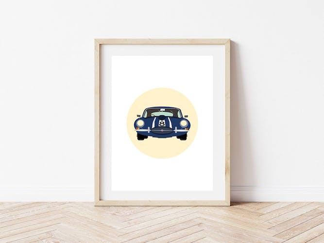 Jaguar rétro, illustration