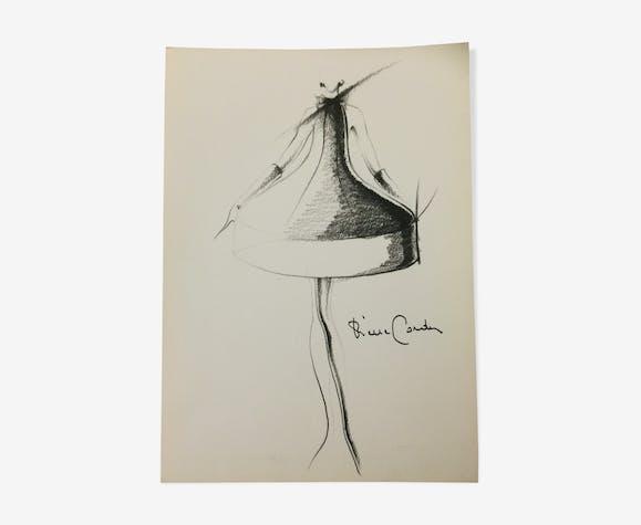 Illustration de mode de presse Pierre Cardin des années 90.