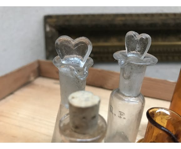Lot of apothecary vials