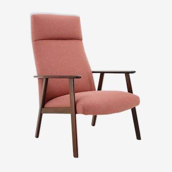1960s teak high back chair