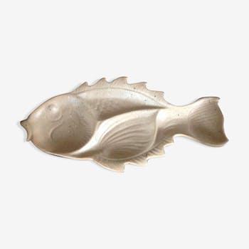Plat poisson en grés
