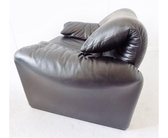 Fauteuil cassina Maralunga Black Leather Lounge