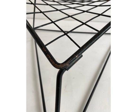 Chauffeuse en métal laqué noir 'Oti' conçue par Niels Gammelgaard pour Ikea, vers 1980