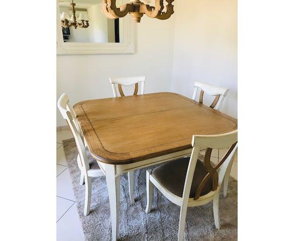 Table et chaises chêne massif ébéniste