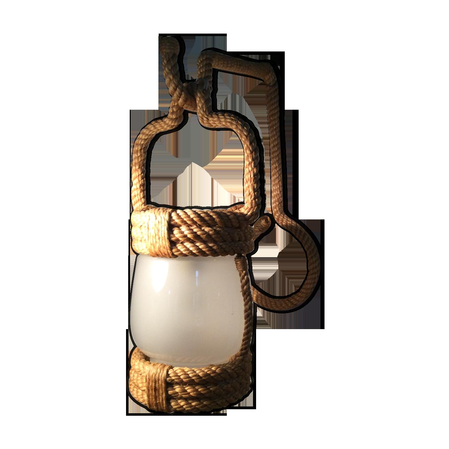 Applique en corde ´ rotin et osier bois couleur vintage