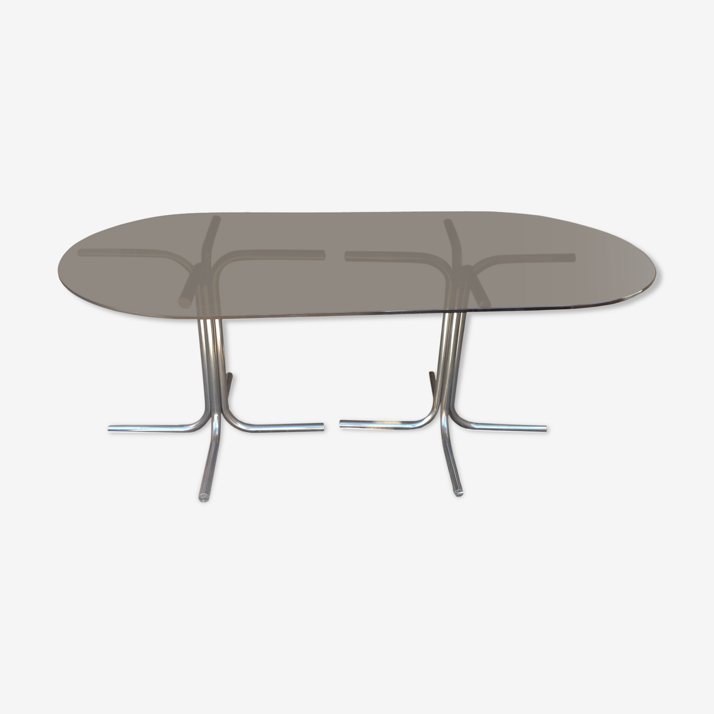 Dining glass table smoking vintage years 70