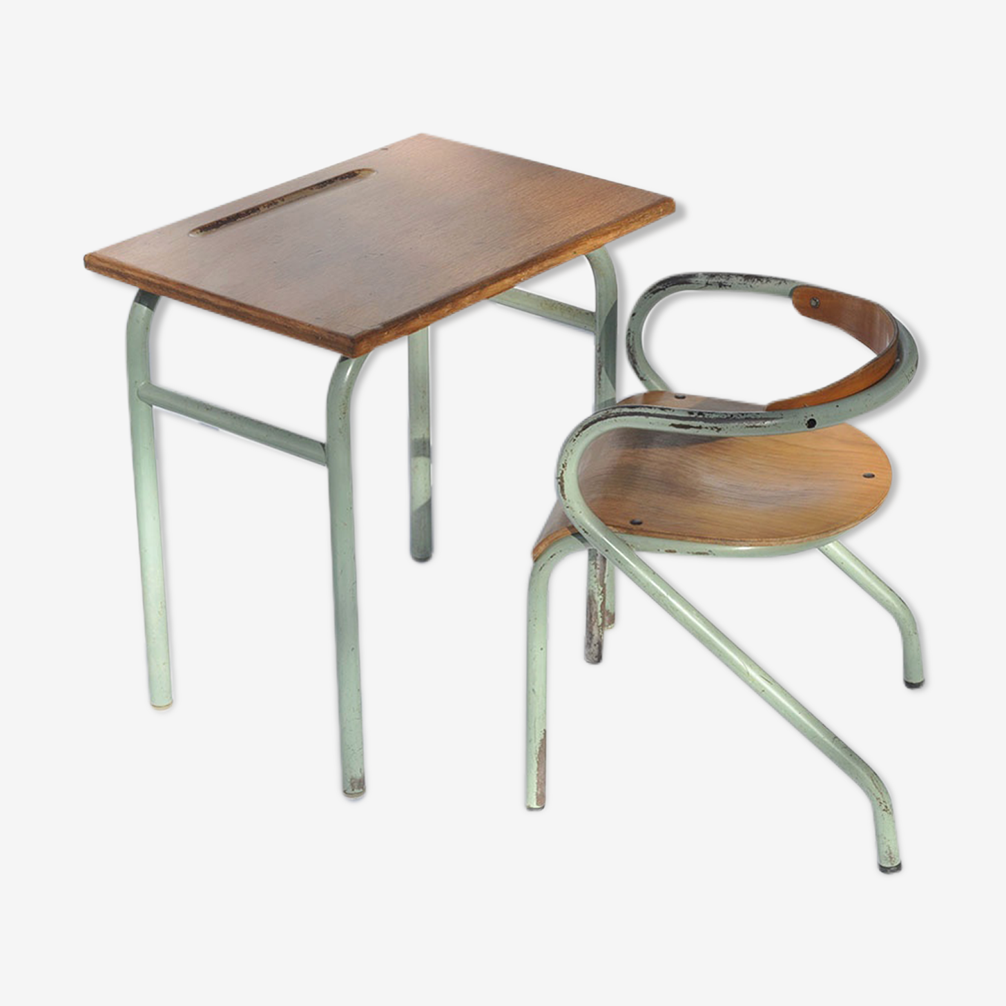 Writing desk and chair of schoolboy