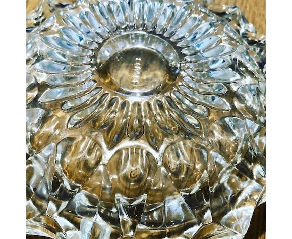 Vide poche en verre ciselé